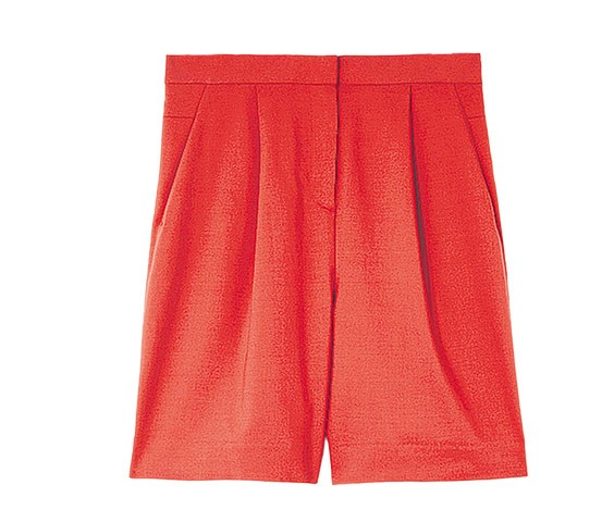 Red wide leg culottes