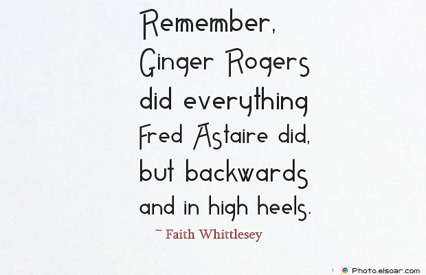 Women's Greetings , Remember, Ginger Rogers