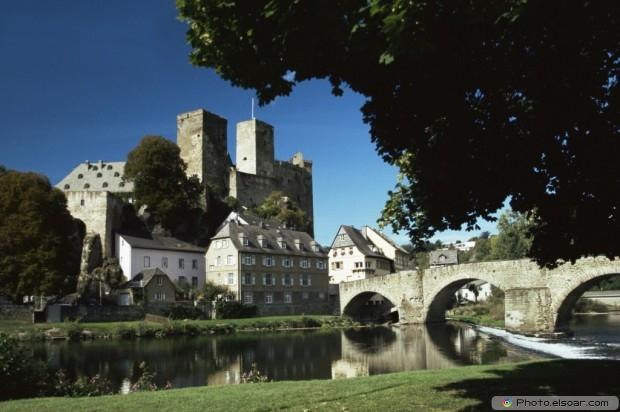 Runkel Castle And Lahn River