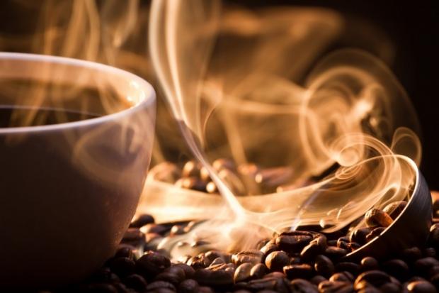 Smoke taking away from coffee seeds