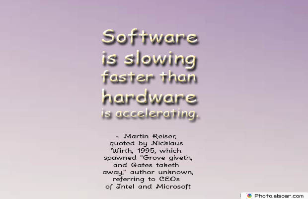 Software is slowing faster