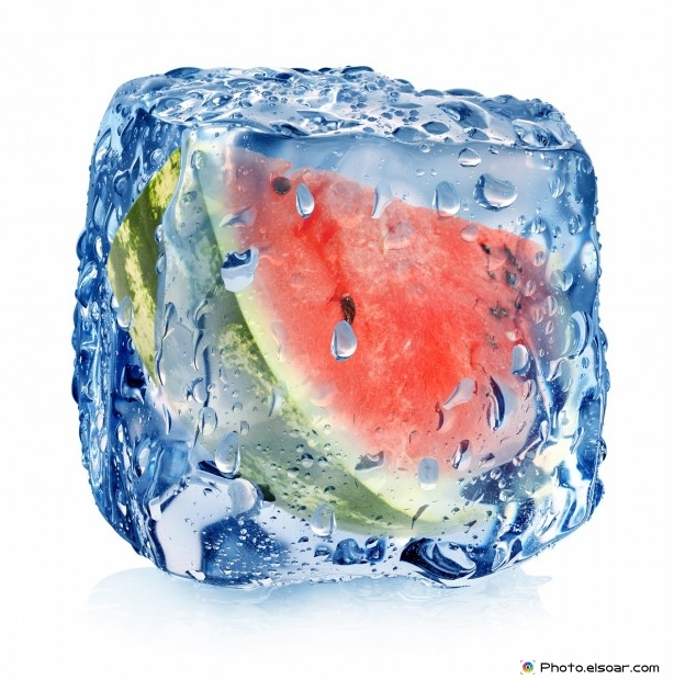 Solid Watermelon In Ice Cube