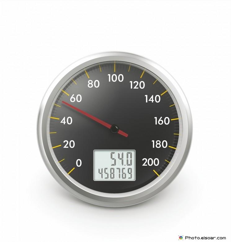 Speedometer with digital odometer