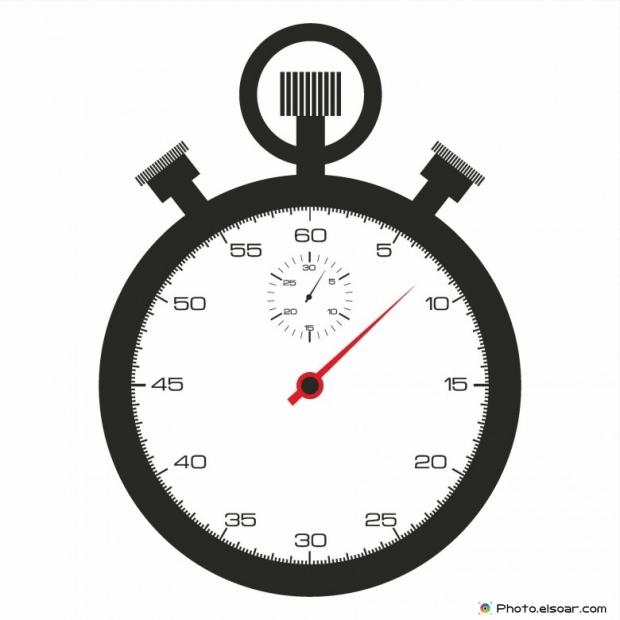 Stopwatch black icon