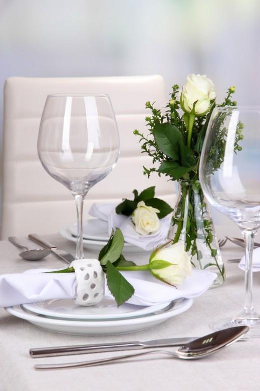 Table floral arrangement in restaurant 11