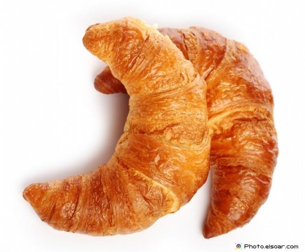 Tasty Croissant On White Background