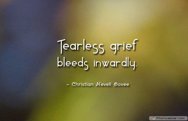 Tearless grief bleeds