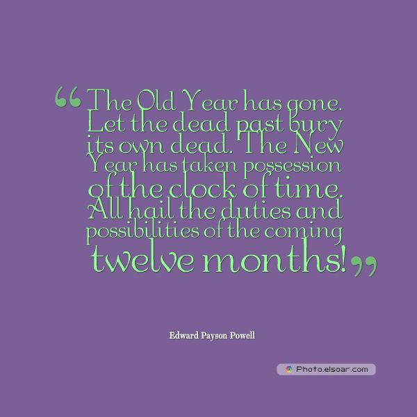 New Year's Quotes , The Old Year has gone