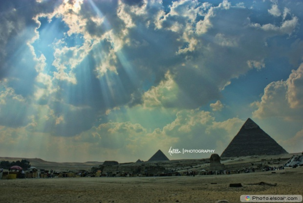 The Pyramids With Clouds