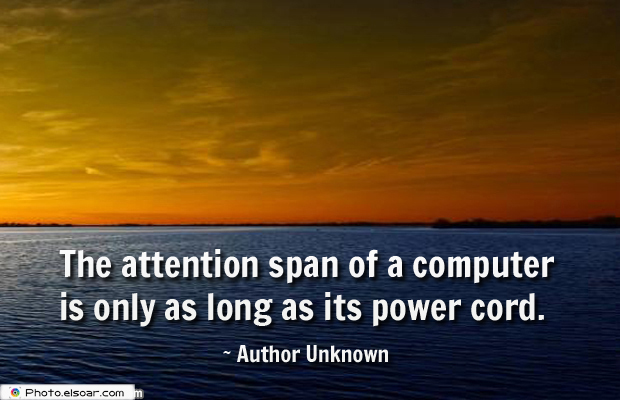 System Administrator , The attention span of a computer is only