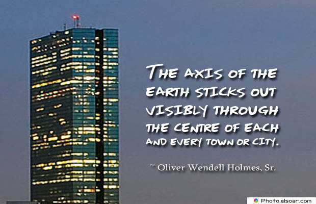 The axis of the earth sticks