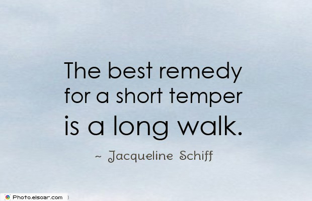 Quotes About Anger , The best remedy for a short temper