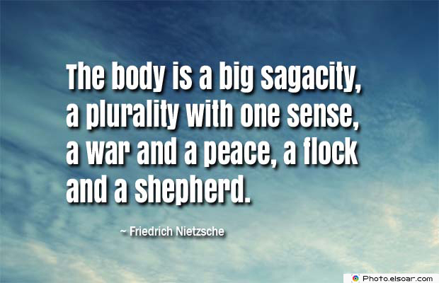 Body Quotes , Quotes About Body , The body is a big sagacity