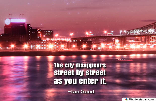 The city disappears street
