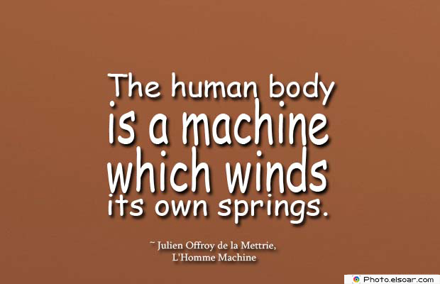 Body Quotes , Quotes About Body , The human body is a machine