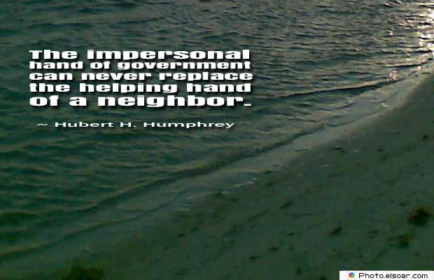 Quotations , Sayings , The impersonal hand