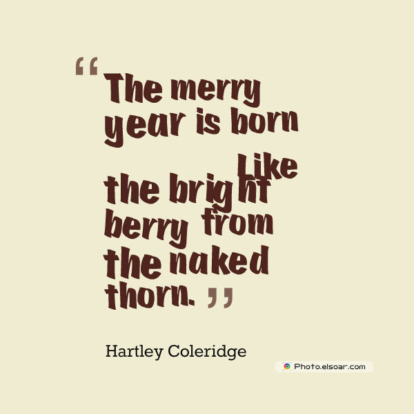 New Year's Quotes , The merry year is born