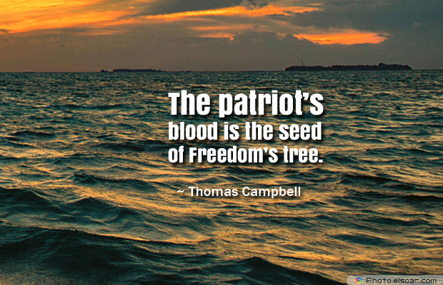 Armed Forces Day , The patriot's blood is the seed of Freedom's tree