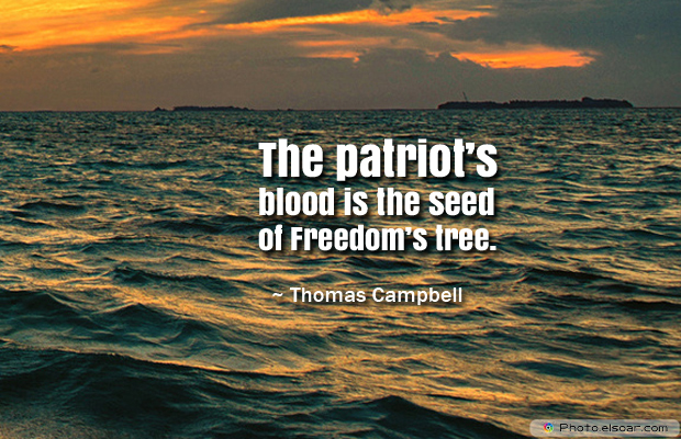 Armed Forces Day , The patriot's blood is the seed