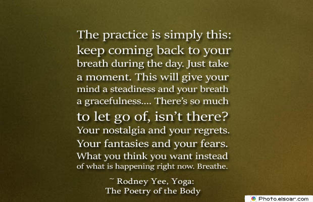 Breathing Quotes , The practice is simply this