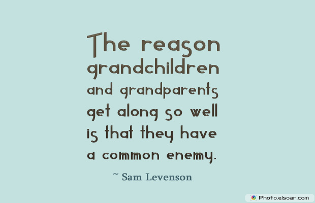 Grandparents Day , The reason grandchildren and grandparents