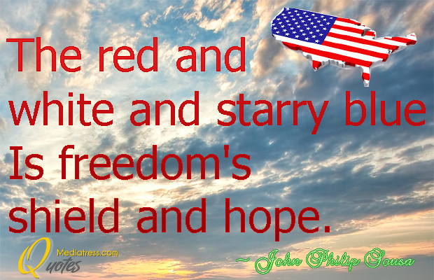 Flag Day , The red and white and starry blue