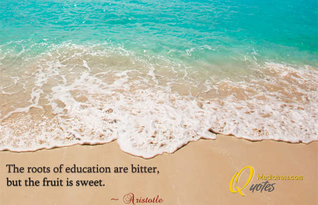 Back to School Quotes , The roots of education are bitter, but the fruit is sweet