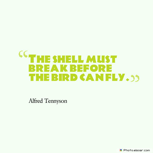 Dare To Be Great , Motivational Quotes, Inspirational Sayings , The shell must break before the bird can fly