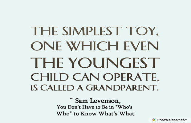 Grandparents Day , The simplest toy, one which even the youngest