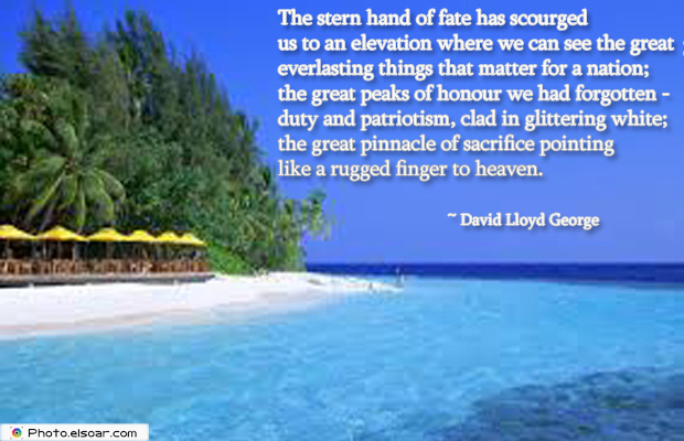 Armed Forces Day , The stern hand of fate has scourged us to an elevation where