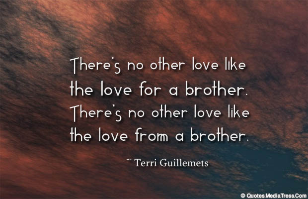 Quotes About Brothers , There's no other love like the