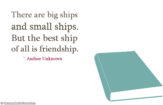 Best Friends Forever , There are big ships and small ships