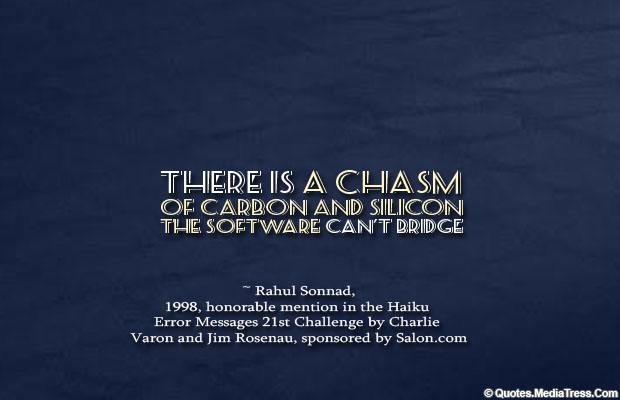 There is a chasm
