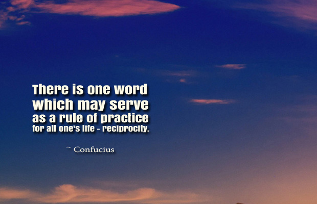 Donate Life , There is one word which may serve as a rule of practice