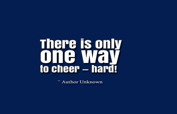 There is only one way to cheer