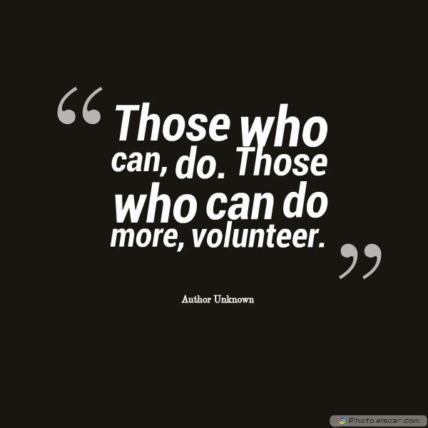 Those who can, do