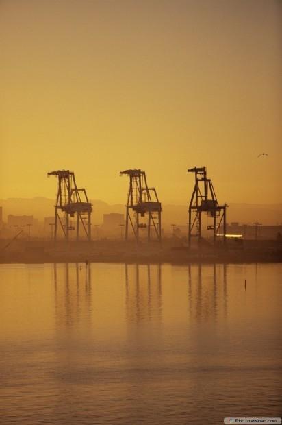 Three Industrial Cranes