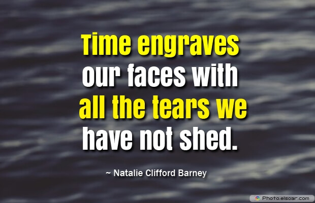 Time engraves our faces