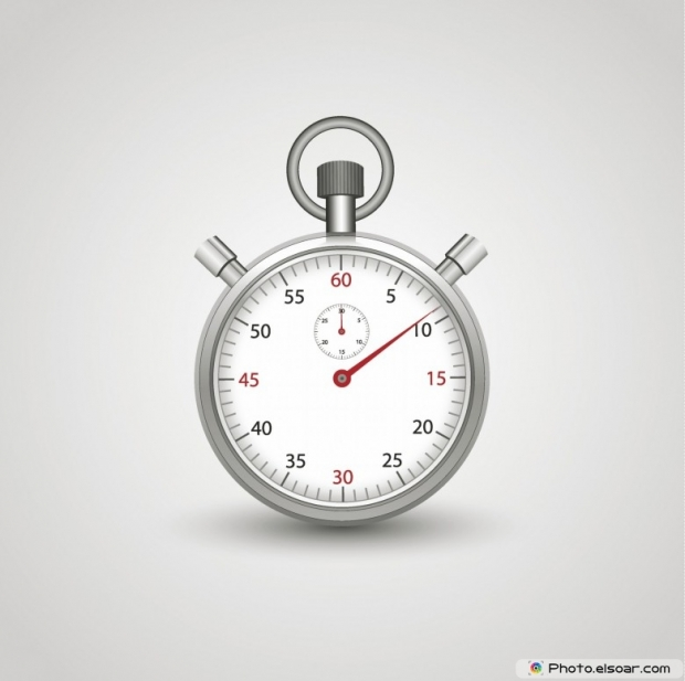 Timer on a white background