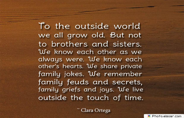 Quotes About Brothers , To the outside world we all grow old