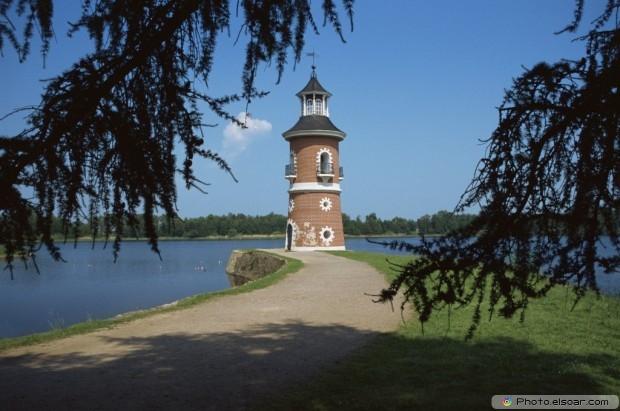 Tower Next To A Lake In Schloss Moritzburg