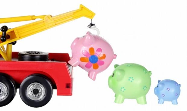 Toy Crane and Piggy Banks