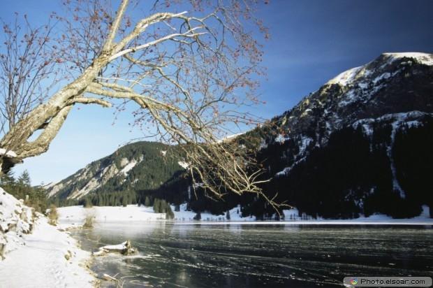 Vils Alp Lake In Winter