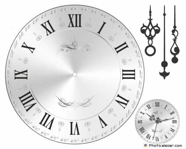 Wall clock face old fashion