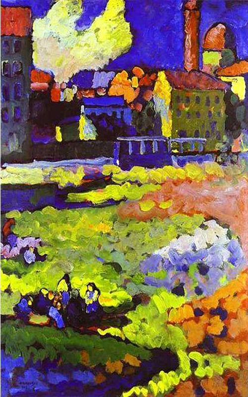 Wassily Kandinsky - Munich-Schwabing with the Church of St. Ursula