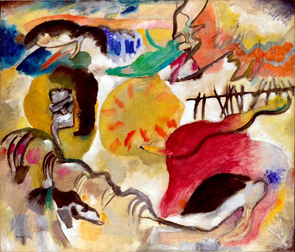 Wassily Kandinsky, Improvisation 27, Garden of Love II, 1912. Exhibited at the 1913 Armory Show