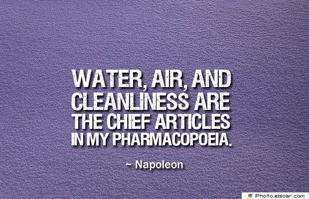Quotes About Chakras , Water, air, and cleanliness
