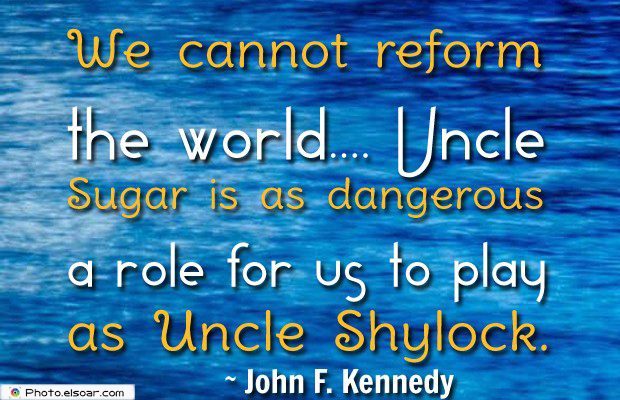 Quotes About America , America Quotes , We cannot reform the world