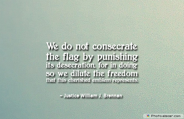Flag Day , We do not consecrate the flag by punishing