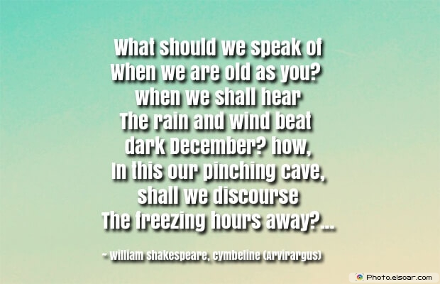 December Quotes, Sayings About December, Quotes Images, William Shakespeare